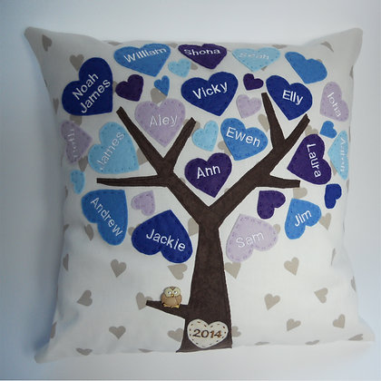 Family Tree Cushion Cover - Bluebell Woods