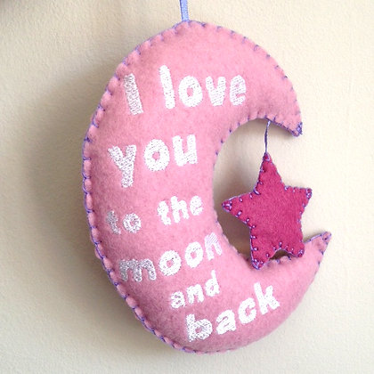 Love you to the Moon Decoration