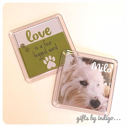 Love is a four legged word magnet