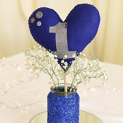 Large Heart Table Number
