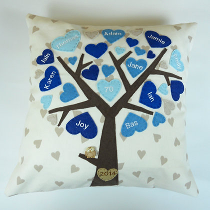 Family Tree Cushion Cover - Marine Seas