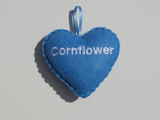 Cornflower Hanging Hearts