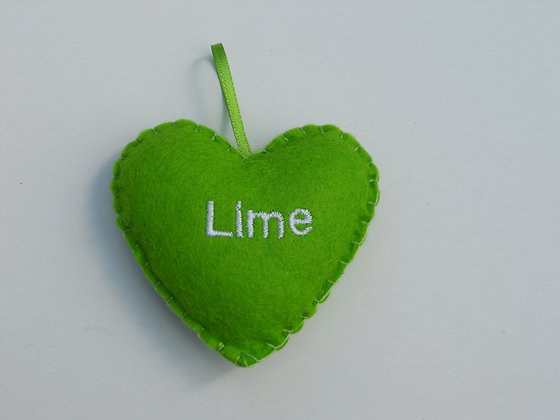 Lime Hanging Hearts