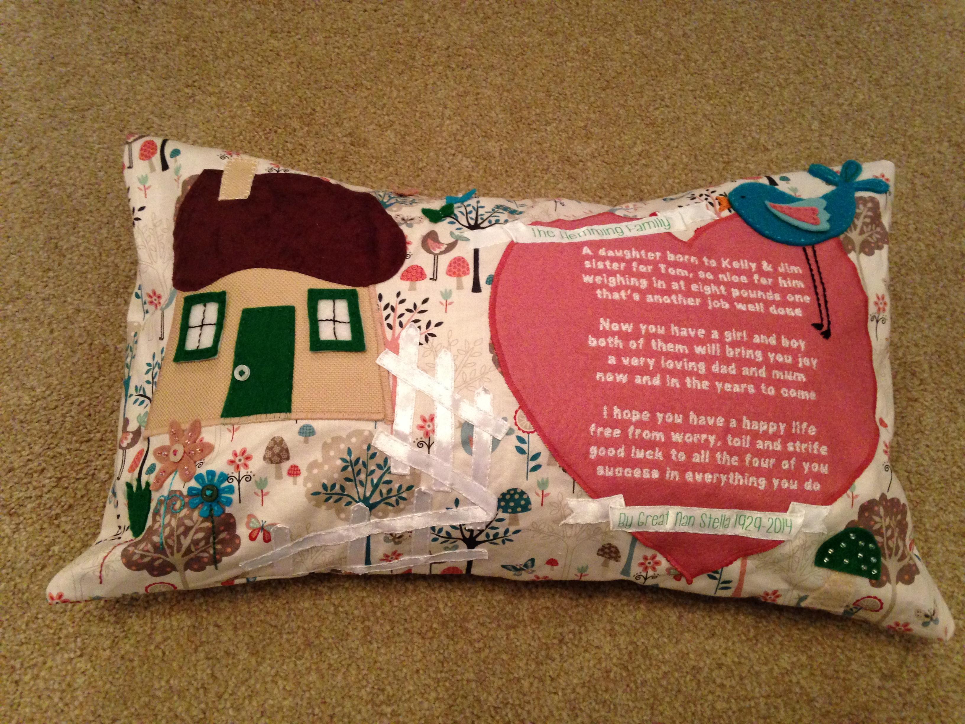Personal Poem Cushion