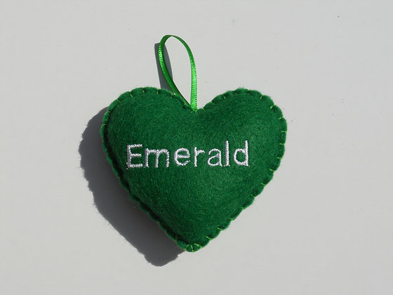 Emerald Hanging Hearts