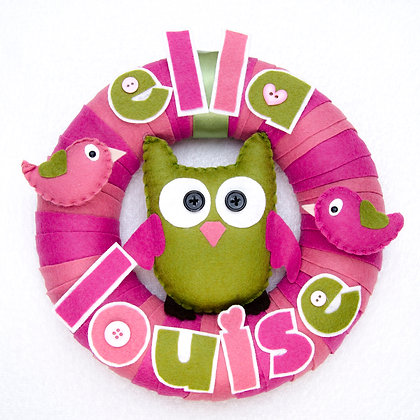 Olive the Owl Name Hoop
