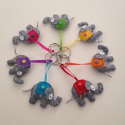 Mini Elephant Key Ring/Brooch