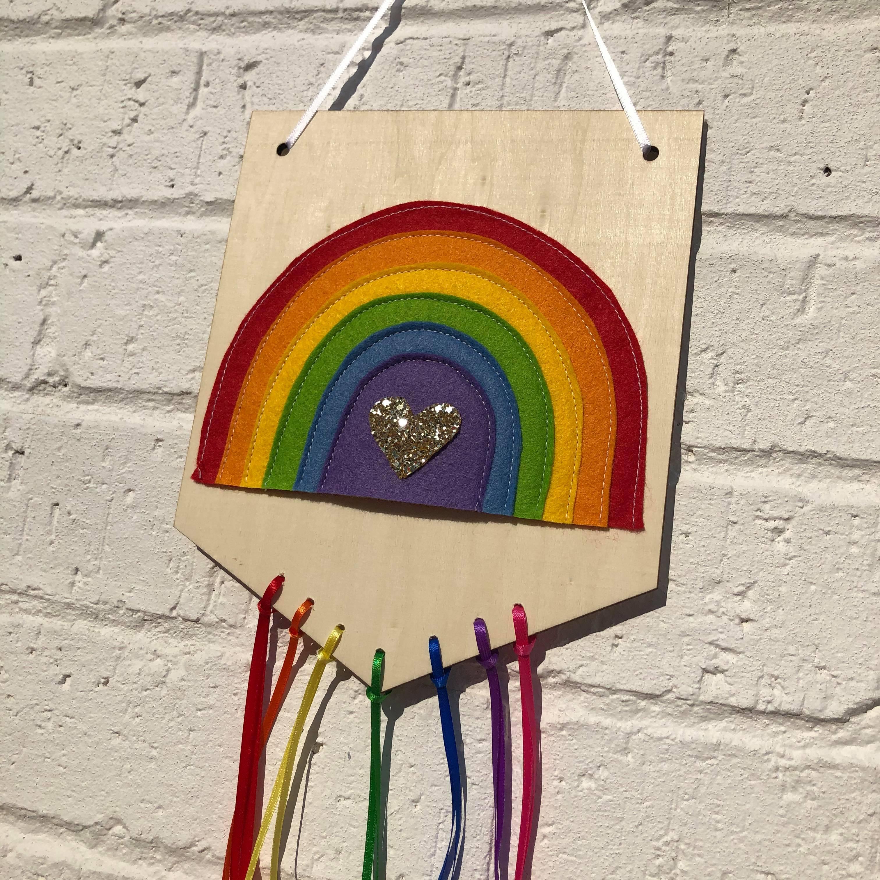 Rainbow Wooden Banner2