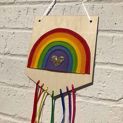 Wooden Rainbow Banner