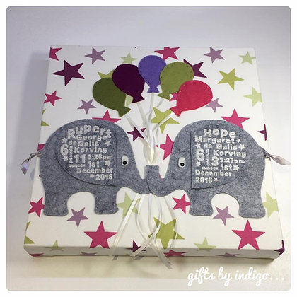 Twin Elephant Birth Detail Canvas