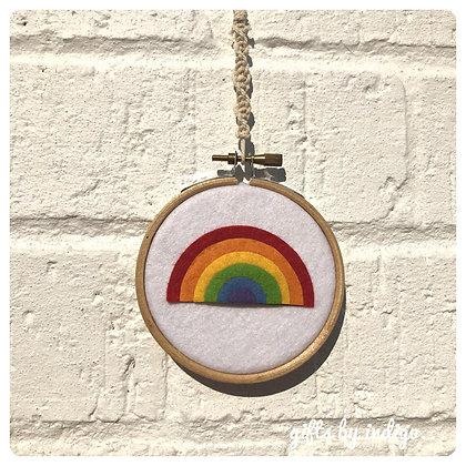 Mini Macrame Rainbow Hoop