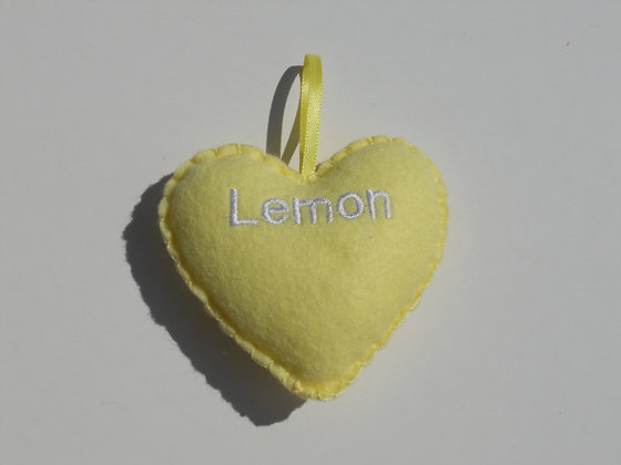 Lemon Hanging Hearts
