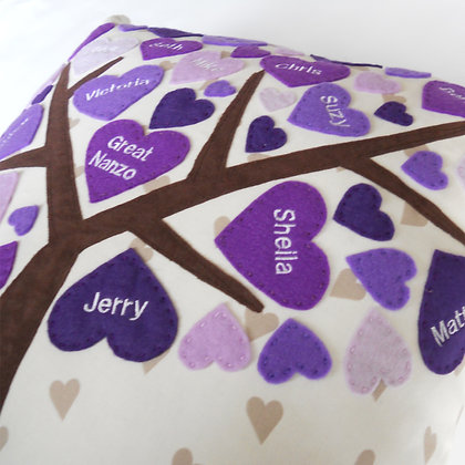 Family Tree Cushion Cover - Purely Purple