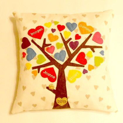 Family Tree Cushion Cover - Rainbow