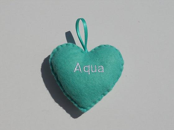 Aqua Hanging Hearts