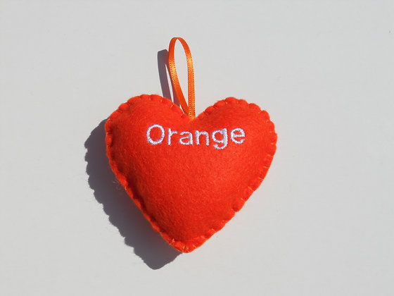 Orange Hanging Hearts