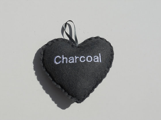 Charcoal Hanging Hearts