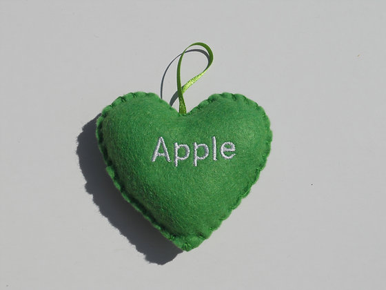 Apple Hanging Hearts