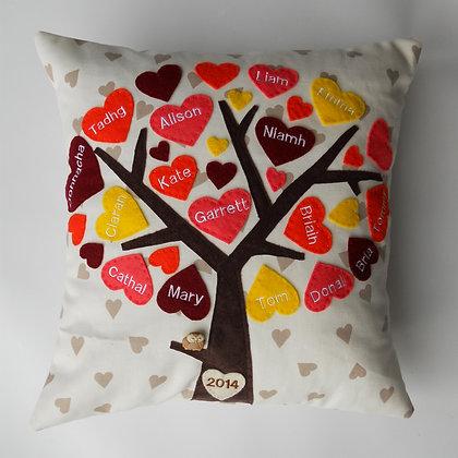 Family Tree Cushion Cover - Sunburst