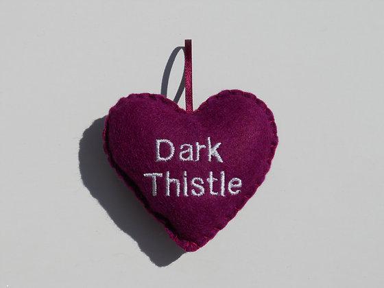 Dark Thistle Hanging Hearts