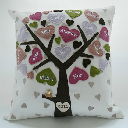 Family Tree Cushion Cover - Mellow Macarons