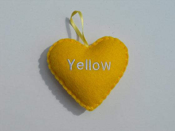 Yellow Hanging Hearts