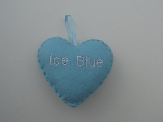 Ice Blue Hanging Hearts