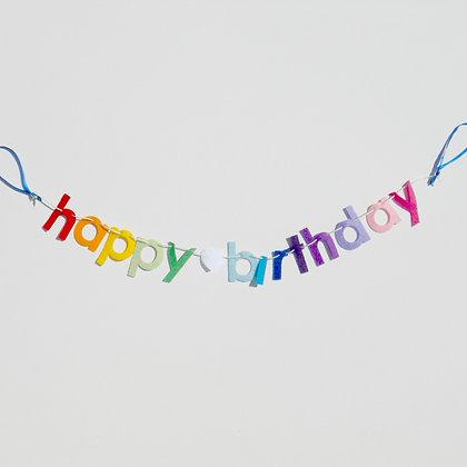 Mini Happy Birthday Garland
