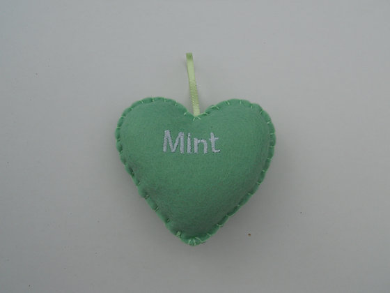Mint Hanging Hearts
