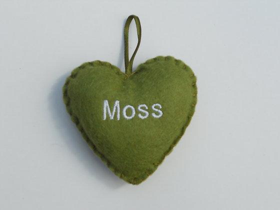 Moss Hanging Hearts