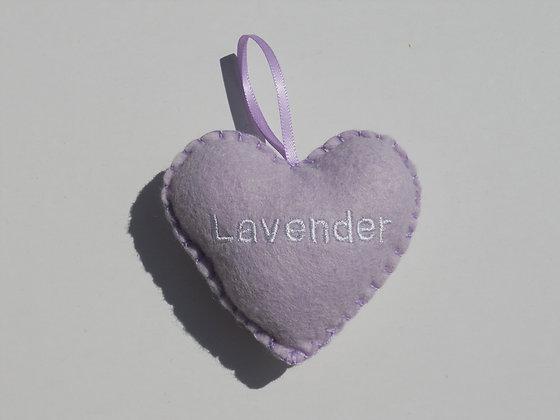Lavender Hanging Hearts