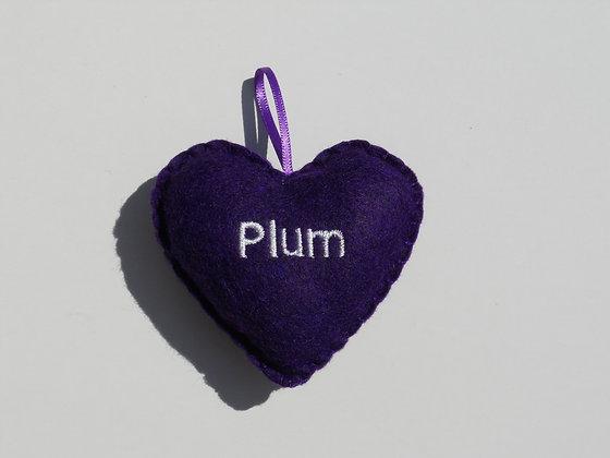 Plum Hanging Hearts