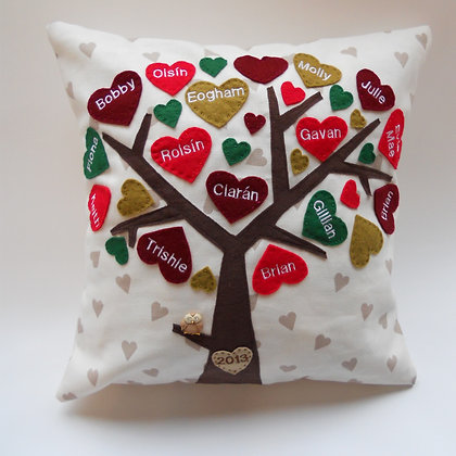 Family Tree Cushion Cover - Festive
