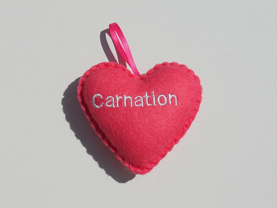 Carnation Hanging Hearts