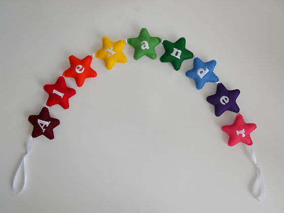 Large Rainbow Star Garland