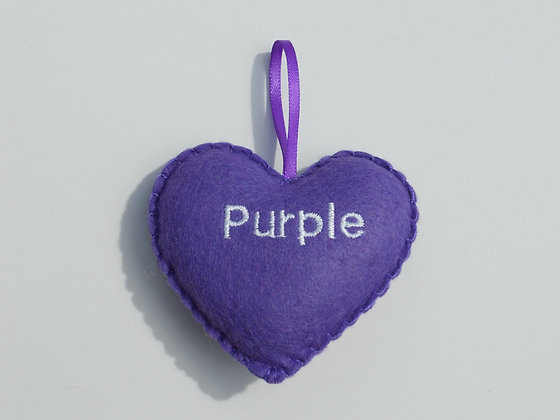Purple Hanging Hearts