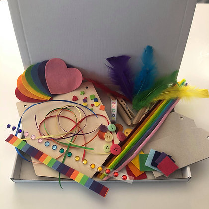 Rainbow themed craft kit