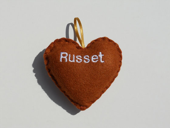 Russet Hanging Hearts
