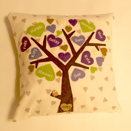 Family Tree Cushion Cover - Sweet Violets