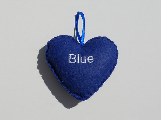 Blue Hanging Hearts