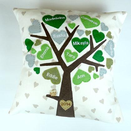 Family Tree Cushion Cover - Lucky Clover