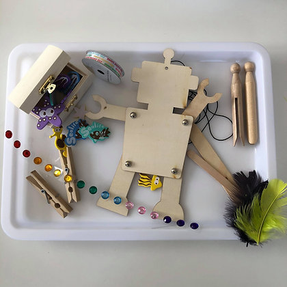 Robot themed craft kit