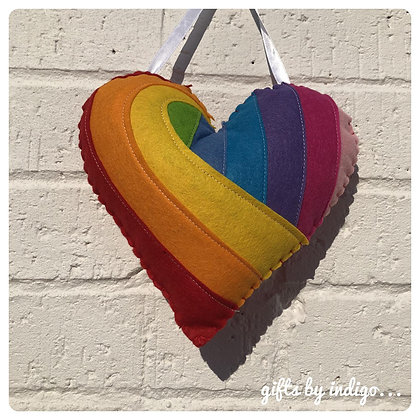 Rainbow Swish Mini Cushion
