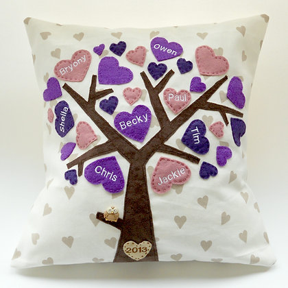 Family Tree Cushion Cover - Pretty Petunias
