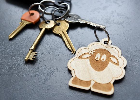 Lola the Lamb Key Ring