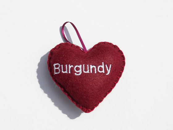 Burgundy Hanging Hearts