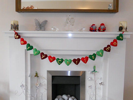 Merry Christmas Garland - Festive