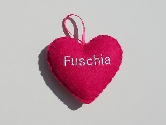 Fuschia Hanging Hearts