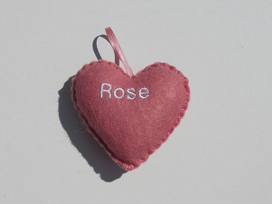 Rose Hanging Hearts