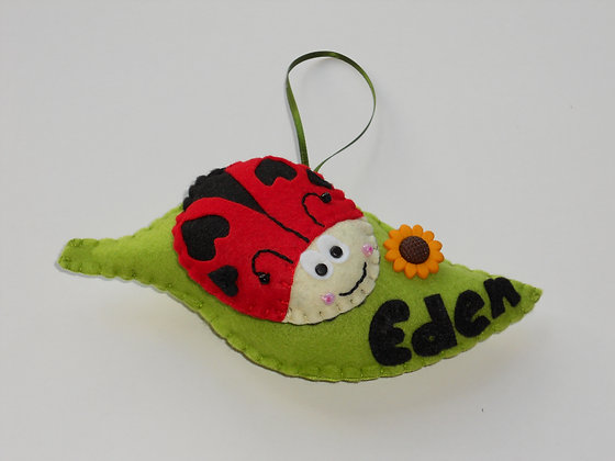 Ladybird Leaf Decoration